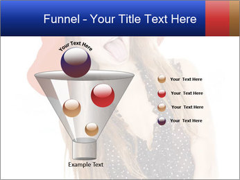 Funny Girl in Red Hat PowerPoint Template - Slide 63