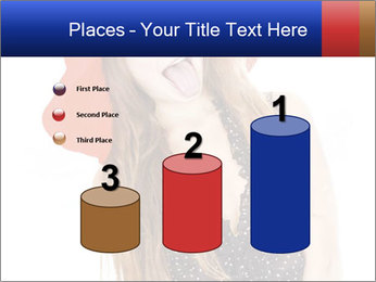 Funny Girl in Red Hat PowerPoint Template - Slide 65