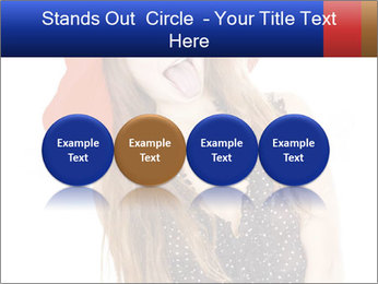 Funny Girl in Red Hat PowerPoint Template - Slide 76