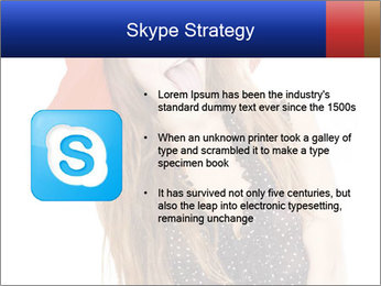 Funny Girl in Red Hat PowerPoint Template - Slide 8