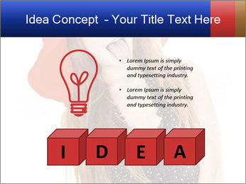 Funny Girl in Red Hat PowerPoint Template - Slide 80
