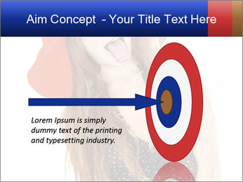Funny Girl in Red Hat PowerPoint Template - Slide 83