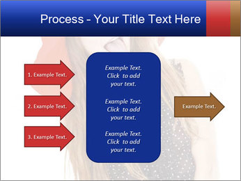 Funny Girl in Red Hat PowerPoint Template - Slide 85