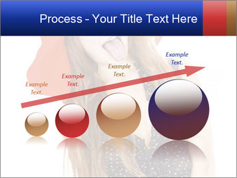 Funny Girl in Red Hat PowerPoint Template - Slide 87