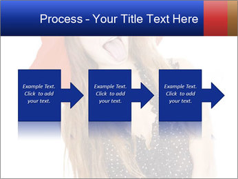 Funny Girl in Red Hat PowerPoint Template - Slide 88