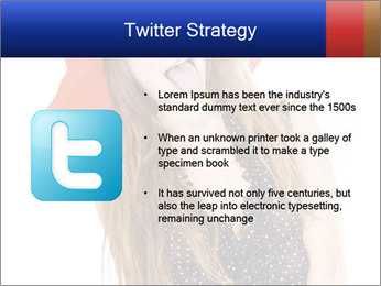Funny Girl in Red Hat PowerPoint Template - Slide 9