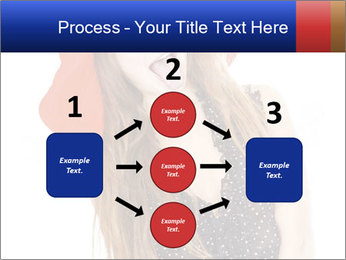 Funny Girl in Red Hat PowerPoint Template - Slide 92