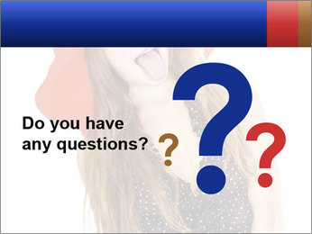 Funny Girl in Red Hat PowerPoint Template - Slide 96