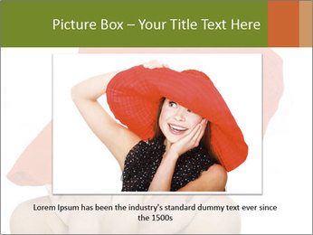 Woman Wearing Big Red Hat PowerPoint Template - Slide 16