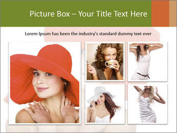 Woman Wearing Big Red Hat PowerPoint Template - Slide 19