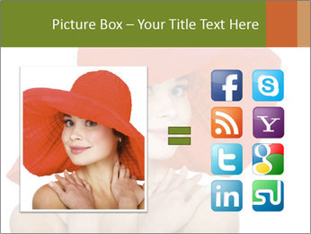 Woman Wearing Big Red Hat PowerPoint Template - Slide 21