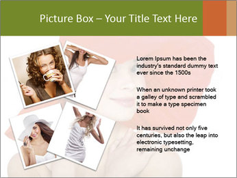 Woman Wearing Big Red Hat PowerPoint Template - Slide 23