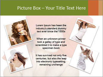 Woman Wearing Big Red Hat PowerPoint Template - Slide 24