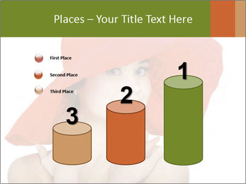 Woman Wearing Big Red Hat PowerPoint Templates - Slide 65