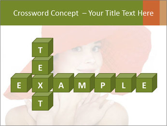 Woman Wearing Big Red Hat PowerPoint Templates - Slide 82