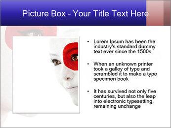 Japanese Flag Body Art PowerPoint Templates - Slide 13