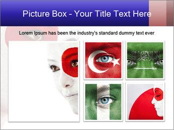 Japanese Flag Body Art PowerPoint Templates - Slide 19
