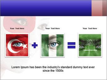 Japanese Flag Body Art PowerPoint Templates - Slide 22