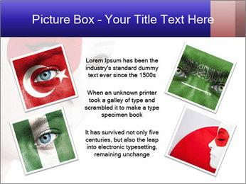 Japanese Flag Body Art PowerPoint Templates - Slide 24