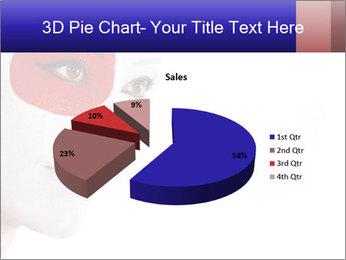 Japanese Flag Body Art PowerPoint Templates - Slide 35
