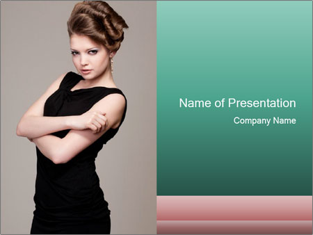 Hairdo for Special Event PowerPoint Template