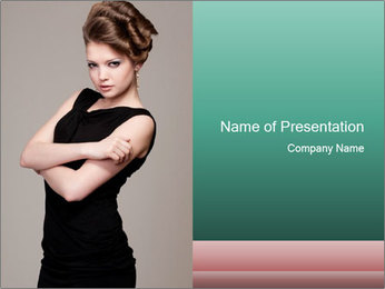 Hairdo for Special Event PowerPoint Template - Slide 1