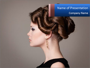 Elegant Hairdo PowerPoint Templates - Slide 1