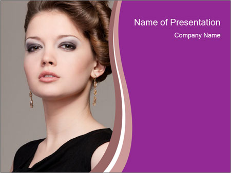 Elegant Young Woman PowerPoint Templates