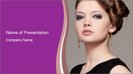 Elegant Young Woman PowerPoint Template