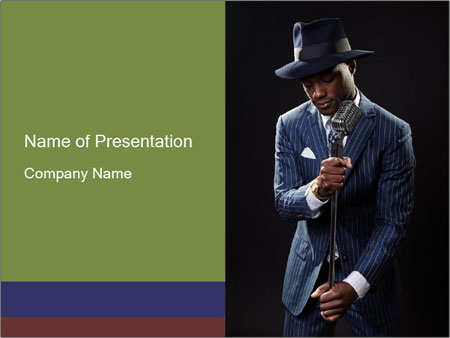 Afro-American Singer PowerPoint Templates