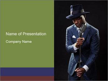 Afro-American Singer PowerPoint Templates - Slide 1