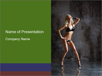 Go Go Dancer PowerPoint Template - Slide 1
