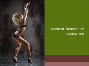 Sexy Dance Performance PowerPoint Template - Slide 1