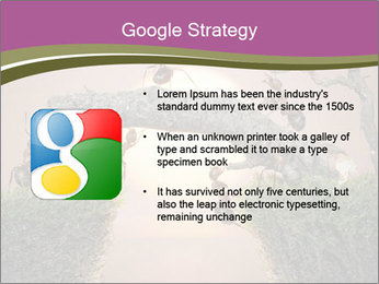 Cartoon Ants Building Bridge PowerPoint Templates - Slide 10