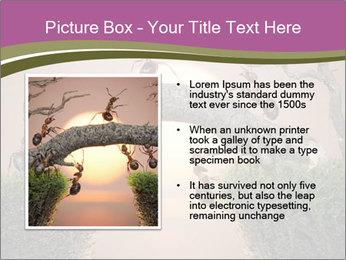 Cartoon Ants Building Bridge PowerPoint Templates - Slide 13