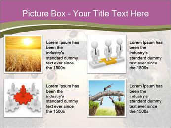 Cartoon Ants Building Bridge PowerPoint Templates - Slide 14