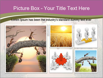 Cartoon Ants Building Bridge PowerPoint Templates - Slide 19