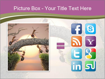 Cartoon Ants Building Bridge PowerPoint Template - Slide 21