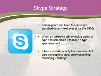 Cartoon Ants Building Bridge PowerPoint Templates - Slide 8