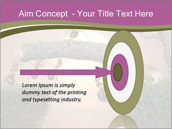 Cartoon Ants Building Bridge PowerPoint Templates - Slide 83