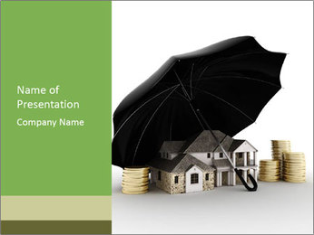 Insurance for Private Property PowerPoint Template - Slide 1