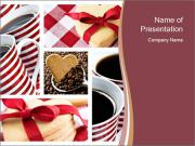 Romantic Heart Cookies PowerPoint Templates