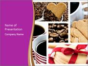 Coffee and Heart Cookies PowerPoint Templates