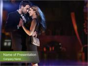 Romantic Couple Dancing PowerPoint Templates