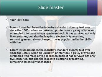 Airy Black Dress PowerPoint Templates - Slide 2