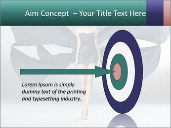 Airy Black Dress PowerPoint Templates - Slide 83