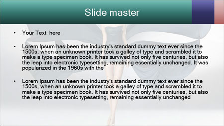 Airy Black Dress PowerPoint Template - Slide 2