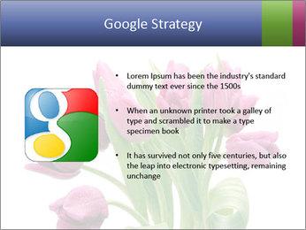 Bouquet of Purple Tulips PowerPoint Templates - Slide 10