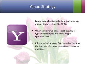 Bouquet of Purple Tulips PowerPoint Templates - Slide 11