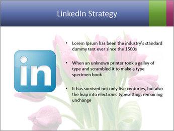 Bouquet of Purple Tulips PowerPoint Templates - Slide 12